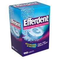 Efferdent Anti-Bacterial Denture Cleanser Tablets 90CT Box product image