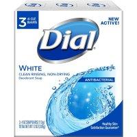 Dial Bath Soap Antibacterial White 3PK of 4oz Bars product image