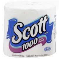 Scott Bath Tissue 1100 Sheets 1-Ply Unscented 1CT product image