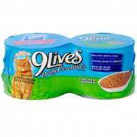 9 Lives Wet Cat Food Chicken Dinner 4PK of 5.5oz Cans 22oz PKG product image
