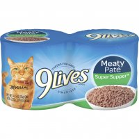 9 Lives Wet Cat Food Super Supper 4PK of 5.5oz Cans 22oz PKG product image