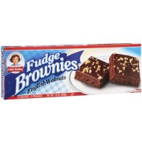Little Debbie Fudge Brownies with English Walnuts  6CT 13oz Box product image
