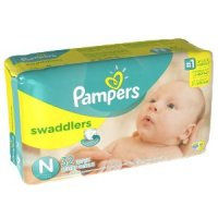 Pampers Newborn Swaddlers (up to 10 LB) 32CT PKG product image