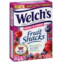 Welch's Fruit Snacks Berries N Cherries 0.9oz Pouches 10CT Box product image