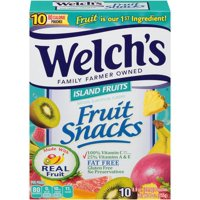 Welch's Fruit Snacks Island Fruits 0.9oz Pouches 10CT Box product image