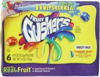 Betty Crocker Fruit Gushers Tropical Flavors 6CT 5.4oz Box product image