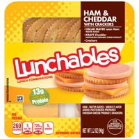 Lunchables Ham & Cheddar with Crackers 3.2oz PKG product image