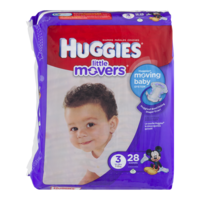 Huggies Little Movers Diapers Size 3 (16-28LB) Jumbo Pack 25CT PKG product image