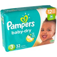 Pampers Baby Dry Size 3 (16-28LB) Jumbo Pack 32CT PKG product image