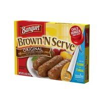 Banquet Brown N Serve Original Sausage Microwave Links 10CT 7oz PKG product image