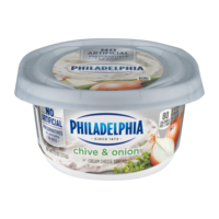 Philadelphia Flavors Cream Cheese Chive and Onion 7.5oz Tub product image