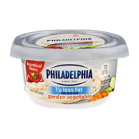 Philadelphia Cream Cheese Garden Vegetable 1/3 Less Fat  7.5oz Tub product image