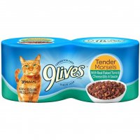 9 Lives Wet Cat Food Select Flaked Tuna & Cheese 4PK of 5.5oz Cans 22oz PKG product image