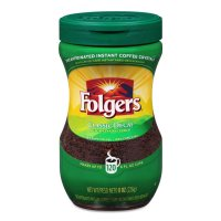 Folgers Classic Decaffeinated Instant Medium Roast 8oz Jar product image