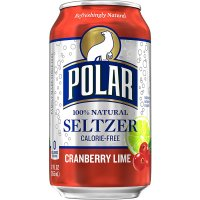 Polar Seltzer Water Cranberry Lime 12PK of 12oz Cans product image