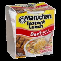 Maruchan Instant Lunch Beef Flavor Ramen Noodles 2.25oz PKG product image