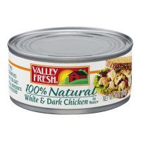 Valley Fresh 100% Natural White and Dark Chicken in Water 10oz Can product image