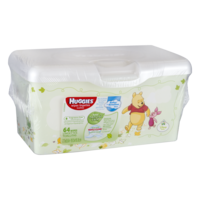 Huggies Natural Care Baby Wipes Fragrance Free 64CT Bin product image