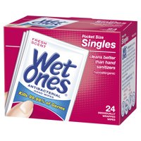 Wet Ones Moist Towelettes Singles Anti-Bacterial Fresh Scent 24CT Box product image