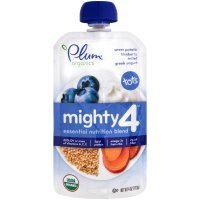 Plum Organics Baby Food Tots Mighty 4 Blue 4oz Pouch product image