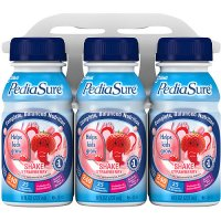 PediaSure Nutrition Beverage Shake Strawberry 6PK of 8oz BTLS product image
