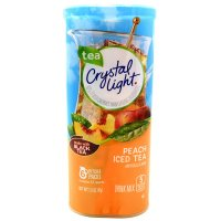 Crystal Light Iced Tea Mix Peach Makes 12QT 1.5 oz Can product image