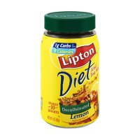 Lipton Iced Tea Mix Diet Decaf with Lemon Makes 10 Quarts 3oz Can product image