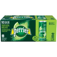 Perrier Sparkling Mineral Water Lime 10CT Slim Can 8.45oz Can product image
