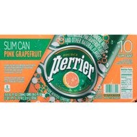 Perrier Sparkling Mineral Water Pink Grapefruit 10CT Slim Can 8.45oz Can product image
