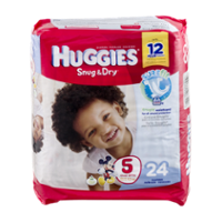 Huggies Snug and Dry Diapers Size 5 Jumbo Pack  25CT PKG product image