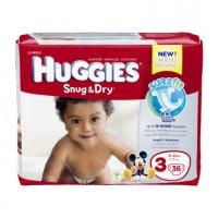 Huggies Snug & Dry Diapers Size 3 (16-28LB) Jumbo Pack 34CT PKG product image