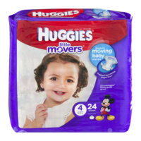 Huggies Little Movers Diapers Size 4 (22-37LB) Jumbo Pack 22CT PKG product image