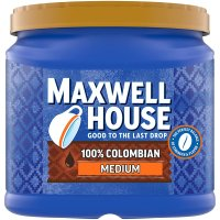 Maxwell House Ground Coffee 100% Colombian Medium Dark 24.5oz Can product image
