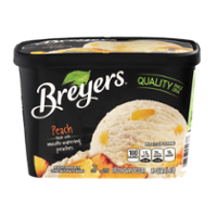 Breyers All Natural Ice Cream Peach 1.5QT product image