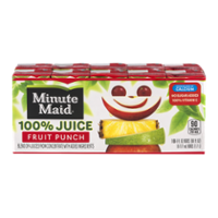 Minute Maid 100% Juice Fruit Punch 10CT of 6oz Boxes product image