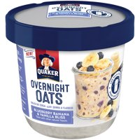 Quaker Overnight Oats Blueberry Banana & Vanilla Bliss 2.29oz Cup product image