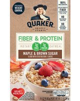 Quaker Instant Oatmeal Fiber & Protein Maple Brown Sugar 8Pk Box product image