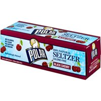 Polar Seltzer Water Black Cherry 12PK of 12oz Cans product image