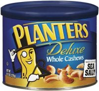 Planters Deluxe Whole Cashews 8.5oz Can product image