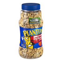 Planters Peanuts Dry Roasted Unsalted 16oz Jar product image