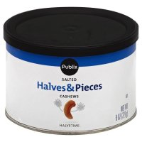 Store Brand Cashew Halves & Pieces Salted 8oz Can product image