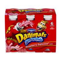 Dannon Danimals Drinkable Yogurt Strawberry Explosion 6PK of 3.1oz BTLS product image