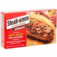 Steak-Umm Frozen Beef Sandwich Steaks 14CT 21oz PKG product image
