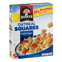 Quaker Oatmeal Squares Brown Sugar Cereal 14.5oz Box product image