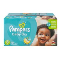 Pampers Baby Dry Size 3 (16-28LB) 104CT Box product image