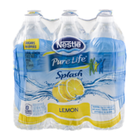Nestle Pure Life Splash Water Lemon 6PK of 16.9oz Bottles product image
