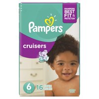 Pampers Cruisers Diapers Size 6 (Over 35LB) Jumbo Pack 16CT PKG product image
