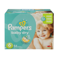 Pampers Baby Dry Diapers Size 6 (Over 35LB) 64CT PKG product image