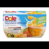 Dole Fruit Bowls Mandarin Oranges in 100 percent Juice 4oz. EA 4CT 16oz PKG product image