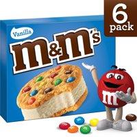 M&M's Vanilla Cookie Ice Cream Sandwiches 6CT 24oz Box product image